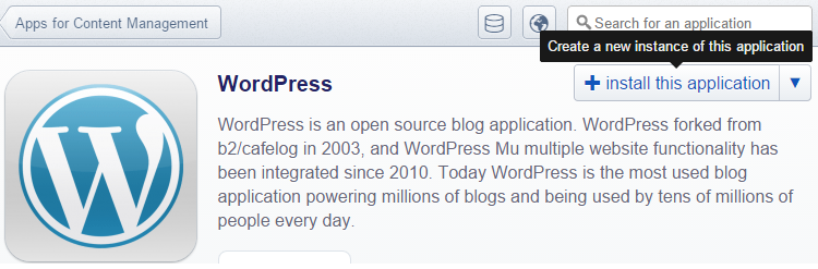 wordpress instal